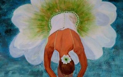 Ballerina i blomst
